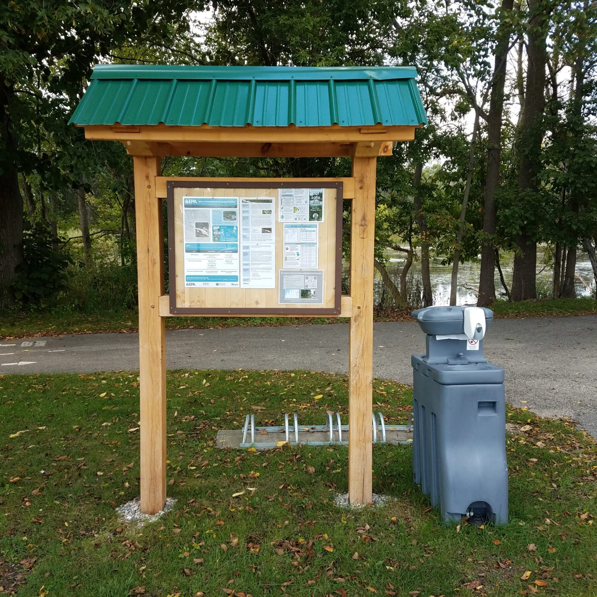 Information kiosk and hand-wash station